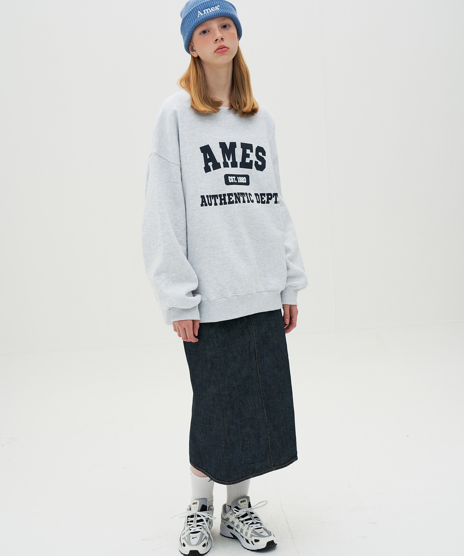AUTHENTIC LOGO SWEATSHIRTS_GY(기모 원단)