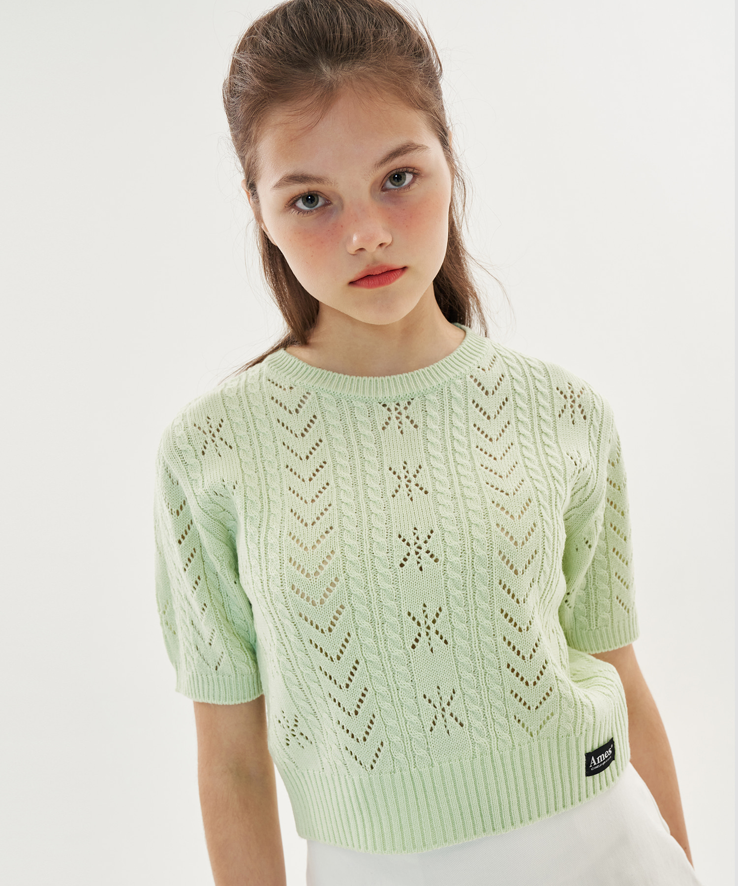PUNCHING CROP KNIT_LG