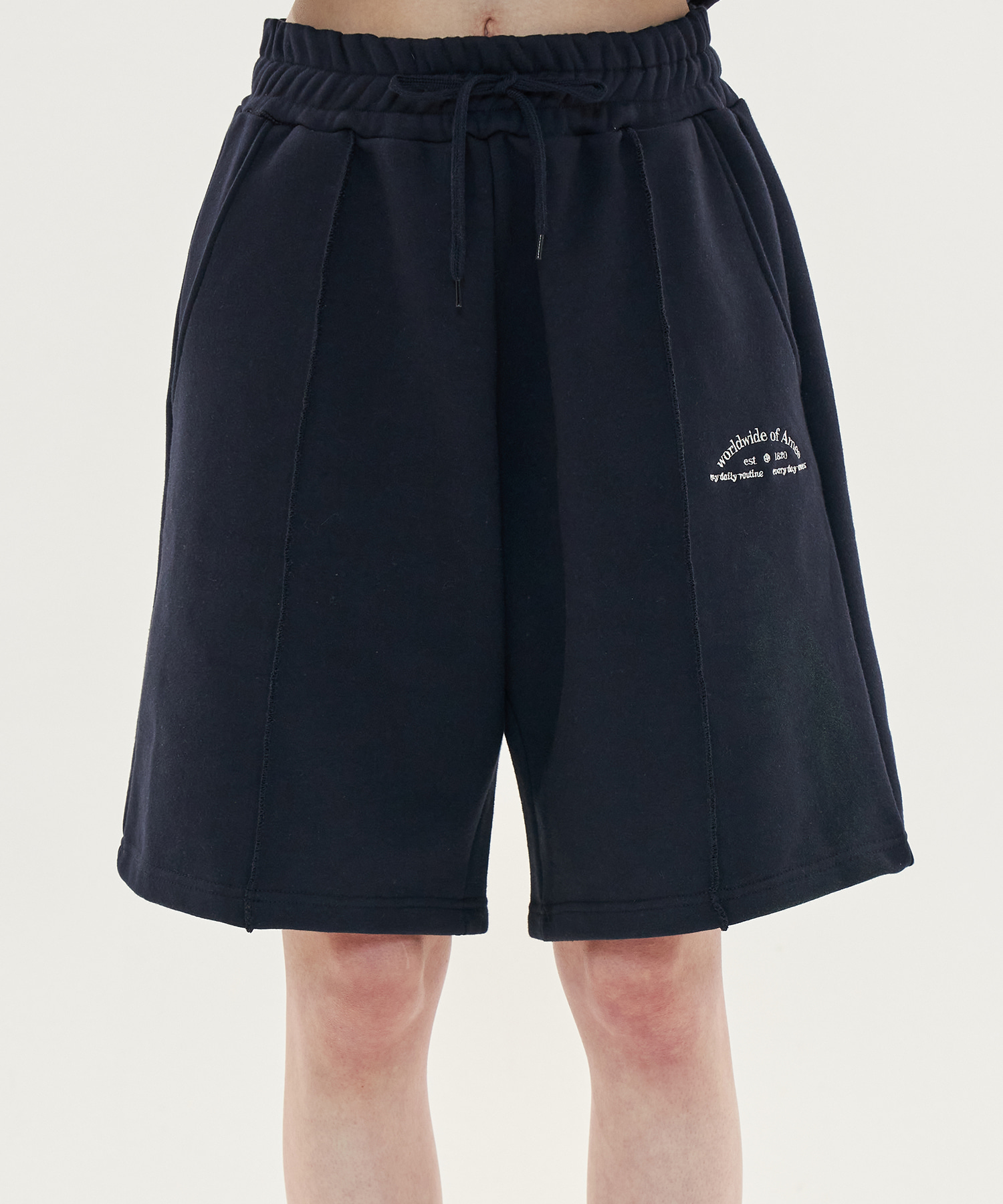 PINTUCK SWEATSHORTS_NV