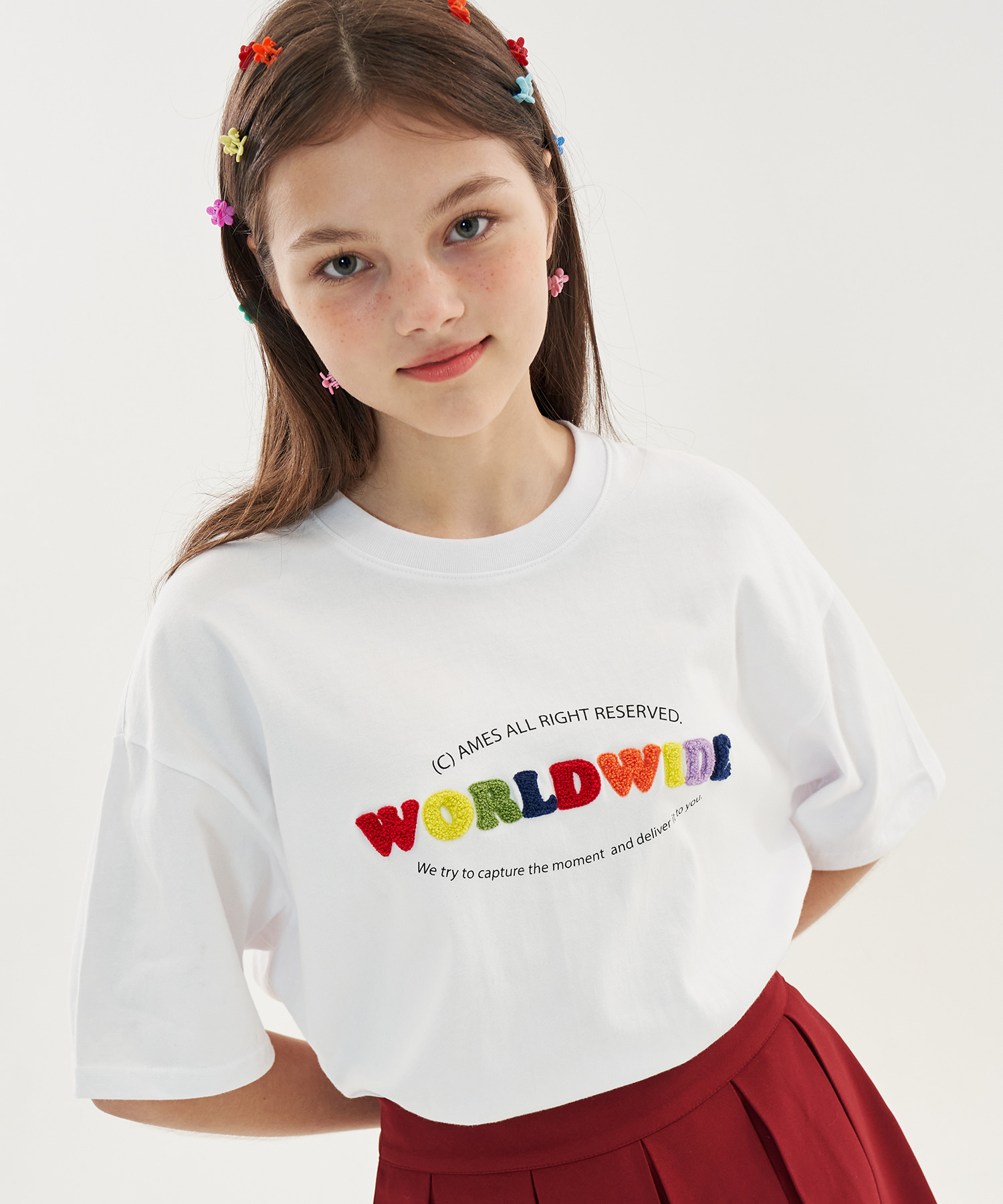 RAINBOW BOUCLE T-SHIRTS_WH