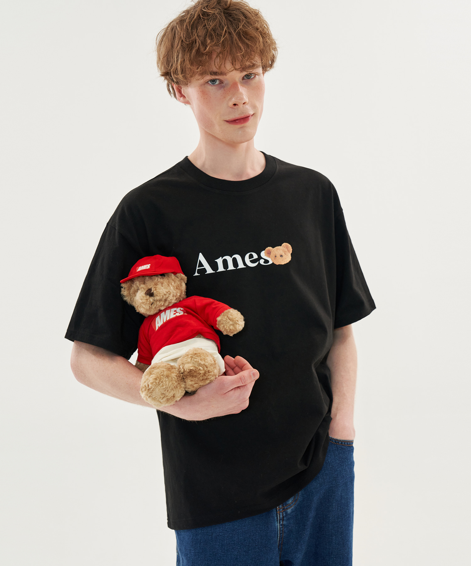 MESSEAGE BEAR T-SHIRTS_BK